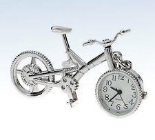 True Birds Silver-Tone BIKE Bicycle Pendant Pocket WATCH Necklace w Chain