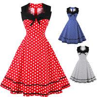 ZAFUL S-4XL Women's Plus Size Vintage Dress Polka Dot Print Party A-Line Dress