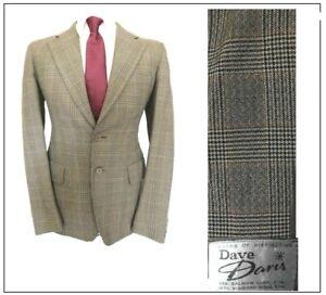 "Dave Davis London Tailor of Distinction tweed Jacket Blazer Ch36""R Brown Check"