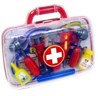 Child Kids Doctor Nurse Carry Case Medical Kit Play Set Dress Up Role Toy Gift