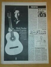 More details for * nick drake (bryter layter) melody maker ad march 1971