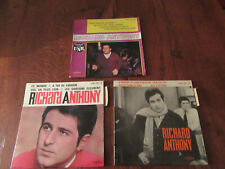 lot de  3 vinyles  45 tours RICHARD ANTHONY