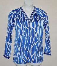 Status by Star Jones Printed Tunicw/ Embellishment Size S Blue