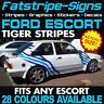 FORD ESCORT GRAPHICS TIGER STRIPES VINYL GRAPHICS STICKERS DECALS RS TURBO 2.0