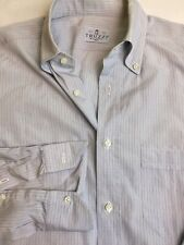 Truzzi Button Front Shirt Plaid Made In Italy 15x 36/37 Small