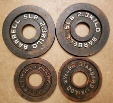 Cap Olympic Size Barbell Weights - Pairs of 5 and 2.5 Lb Plates home gym