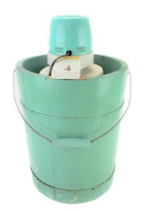 Vintage Ice Cream Maker Freezer Proctor Silex Appliance Wood Old Fashioned 907