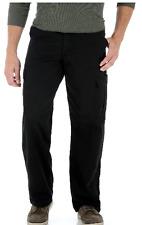 Wrangler BIG MAN Legacy Cargo Pants Black Relaxed Fit Tech Pocket 44 46 48 50 52
