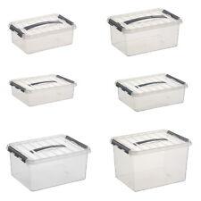 Sunware Box Sammelbox Kiste q-Line Aufbewahrungsbox Kunstoffbox mit Tragegriff