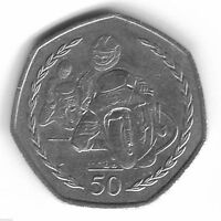 1997 TT RACES IOM 50P COIN RARE COLLECTABLE FIFTY AA ISLE OF MAN TOURIST TROPHY!