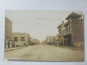 1907 Visalia Tulare CA Hotel Harvey House Main Street Photo Post Card RPPC