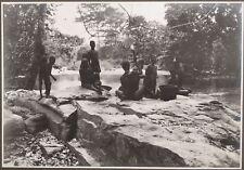 ✒ CROISIERE NOIRE CITROEN photographie originale la YANGANA à VOGPO CENTRAFRIQUE