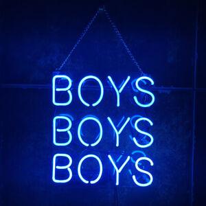 "10""x10""BOYS BOYS BOYS Neon Sign Light Party Wall Decor Artwork Gift Customizable"