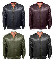 Soul Star New Men's MA1 Flying Military Army Bomber Biker Jacket Retro Skinhead