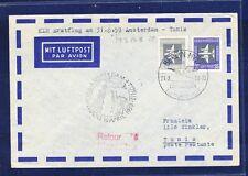 45532) KLM FF Amsterdam - Tunis 16.4.59, Brief ab DDR MiF 2 LP-Marken