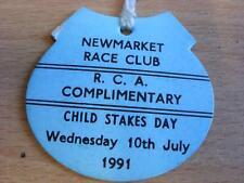 10/07/1991 Newmarket Races - Horse Racing Badge (slight creasing to edges)