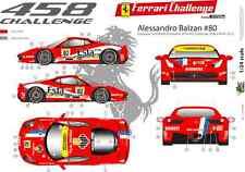 [FFSMC Productions] Decals 1/24 Ferrari F-458 Challenge 2012 Alessandro Balzan