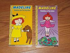 Lot of 2 Madeline VHS Video Madeline at the Ballet & Madeline at the Dog Show