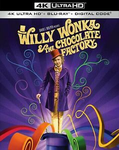 Willy Wonka and the Chocolate Factory 4K + Bluray + digital Code with slipcover