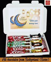 Personalised Eid Mubarak Ramadan Swiss FREY Sweets Chocolate Gift Hamper For All
