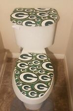 "Green Bay Packers ""G's"" Fleece Toilet Seat and Tank Top Cover"