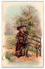 Early 1900s Spooning in Chamberlain, SD Postcard
