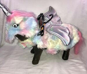Dog / Cat Unicorn Outfit with Wings Rainbow Colors Size Medium NEW