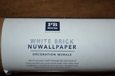 Pottery Barn Teen Dorm White Brick Nuwallpaper Wall Paper Peel & Stick Removable