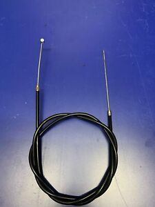 BOWDEN CONTROL CABLE 2MM OD INNER 6MM PVC COVERED OUTER CHROME ENDS 1.2MTR SET