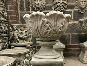 Small tulip planter urn pot,Great garden or home concrete stone statue sculpture