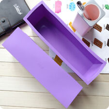 1.2L Loaf Toast Bread Pastry Cake Soap Silicone Mold Pan Mould Tin Color Random