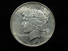 1922-D Silver Peace Dollar NICE AU++