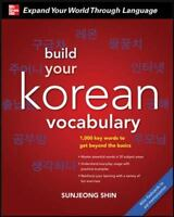 Build Your Korean Vocabulary with Audio CD Shin, Sunjeong VeryGood