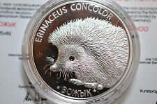 Belarus 2011, HEDGEHOG, 1OZ  Silver Coin Swarovski crystal,  Mintage 4000.New.