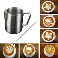 350ml Milk Coffee Jug Pitcher Espresso Frothing Scale Pot Tank Stainless Steel