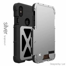 Armor King IronnMan Stainle Steel Flip Metal Case For iPhone X XS Max XR 6 7 8 +