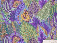 18,93€/m² => 25cmx112cm: COLEUS Lavender - Blatt / Blätter - Kaffe Fassett