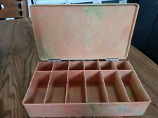 Hinged Swirled Sherbet Celluloid Crafts Beads Jewelry Threads Organizer Box