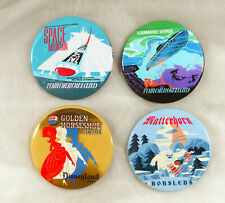 Disney Pin Button Space Mountain Submarine Matterhorn Horseshoe Vintage Art