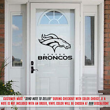 Denver Broncos Decal Decorating Kit Vinyl Sticker Set Car Cornhole Glass Door RV