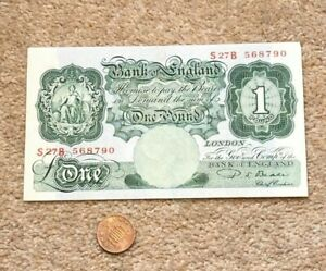 Beale English Green £1 One Pound  Banknote Circulated S27B