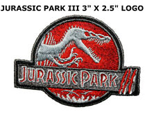 Jurassic Park Movie III Logo Embroidered Patch, NEW UNUSED US SELLER