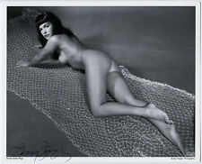 Streamlined Bettie Page Pin-Up Lithograph NOS Hand Signed by Bunny Yeager