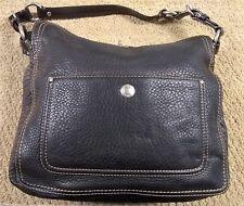 Coach Chelsea Pebbled Leather Large Black D0872-F12338 Purse (FC2H-3)