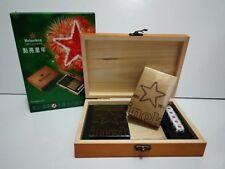 TAIWAN  Heineken Beer 2 playing card deck set   w/ dice wood box