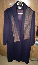 MDP Mario De Pinto Wool Trench Coat With Scarf. Size 16/18.  Lined.