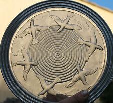 ancien dessous de plat art déco en verre presse signé am style sabino verlys