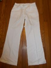 Ladies Greys Anatomy Scrubs Pants White Flair Pockets with Slits - Size S