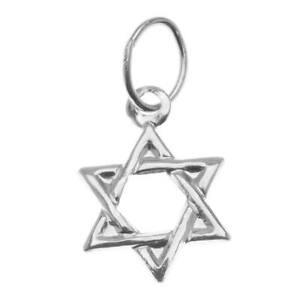Sterling Silver Charm, Jewish Star Of David 11mm, 1 Piece, Silver
