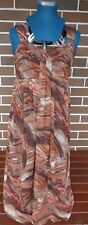 MILLERS LADIES SIZE 12 BROWN/ORANGE/TAN/CREAM/BEIGE SUMMER SLEEVELESS MAXI DRESS